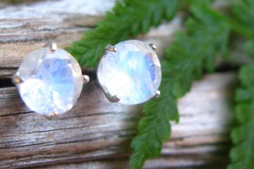 Blue moonstone earrings