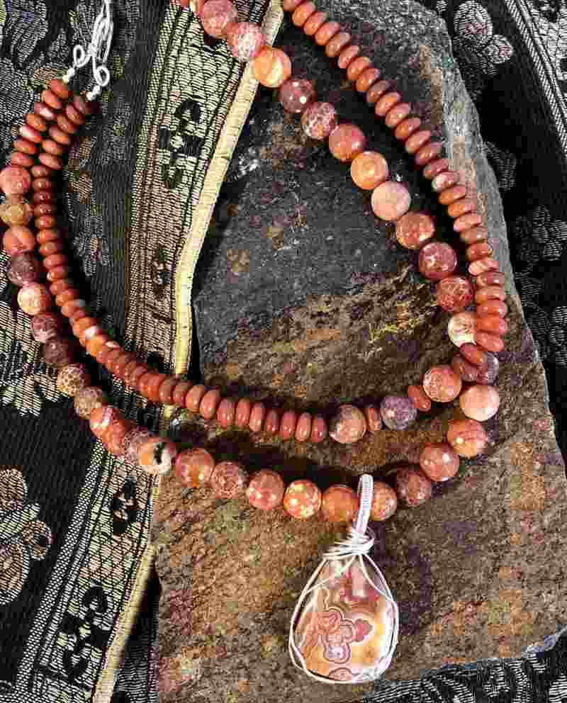 crazy lace agate necklaces