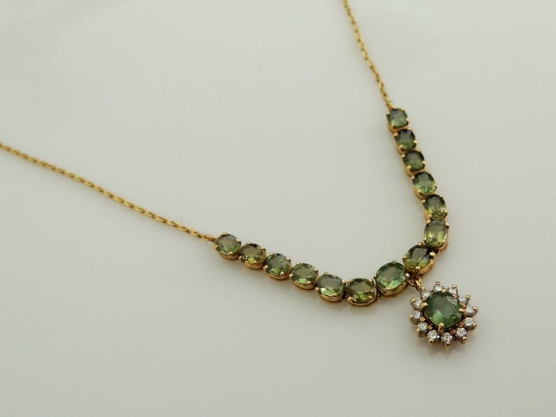 Green Sapphire Necklaces