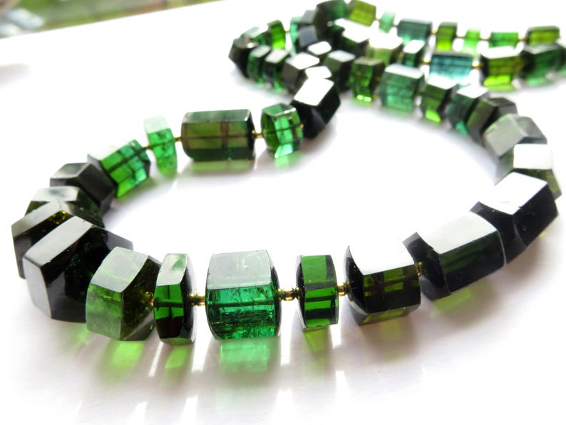 green tourmaline necklaces