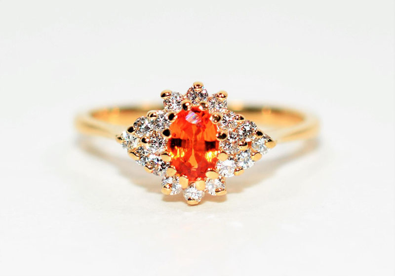 padparadscha sapphire engagement rings