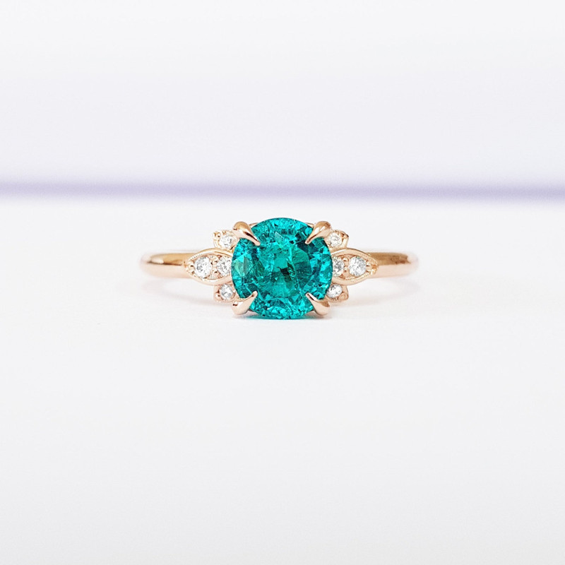 paraiba tourmaline engagement rings