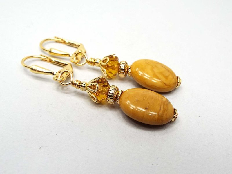 yellow jasper earrings