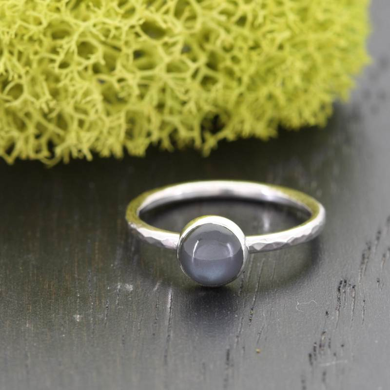 Sterling Silver Black Moonstone Ring