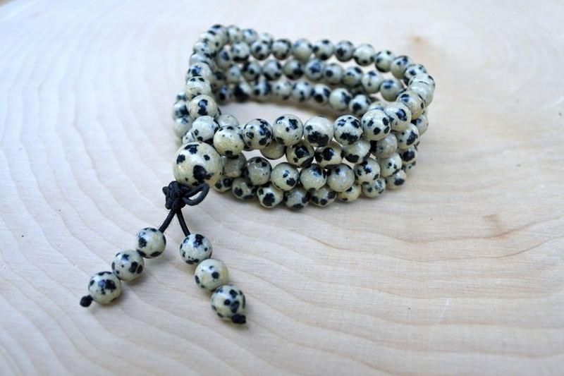 Dalmatian Jasper Beads Bracelet