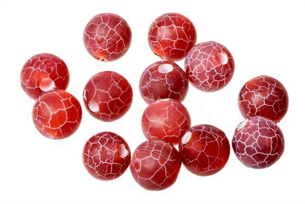 Fire Dragon Vein Agate Beads