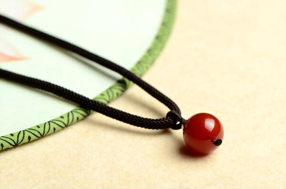 Red Agate Bead