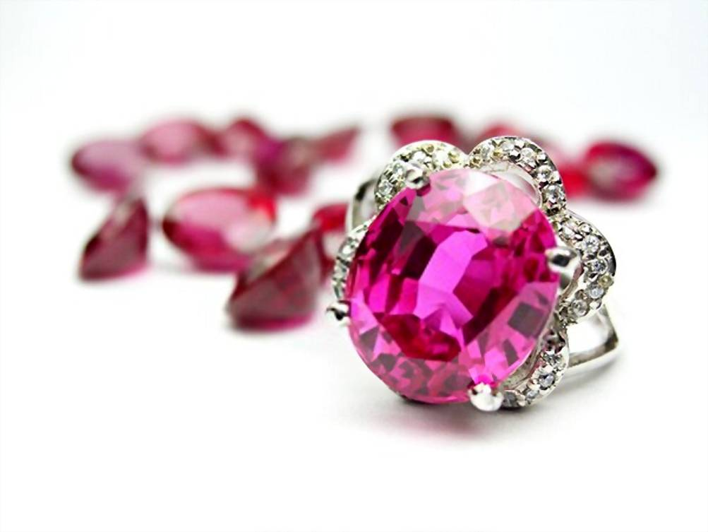 Genuine Pink Sapphire Ring