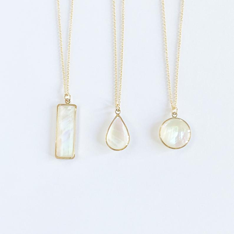 mother of pearl necklaces
